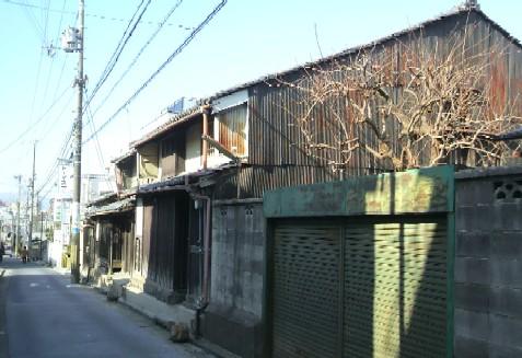 寺林通りに面した旧木下家と旧竹内家