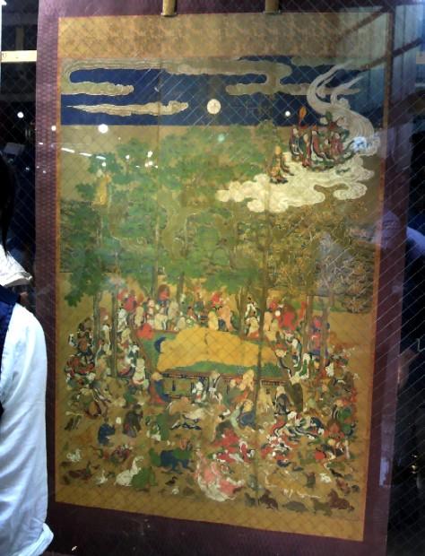 餅飯殿財団所蔵の釈迦涅槃図
