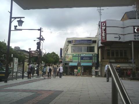 近鉄奈良駅の地下出口から見た行基広場