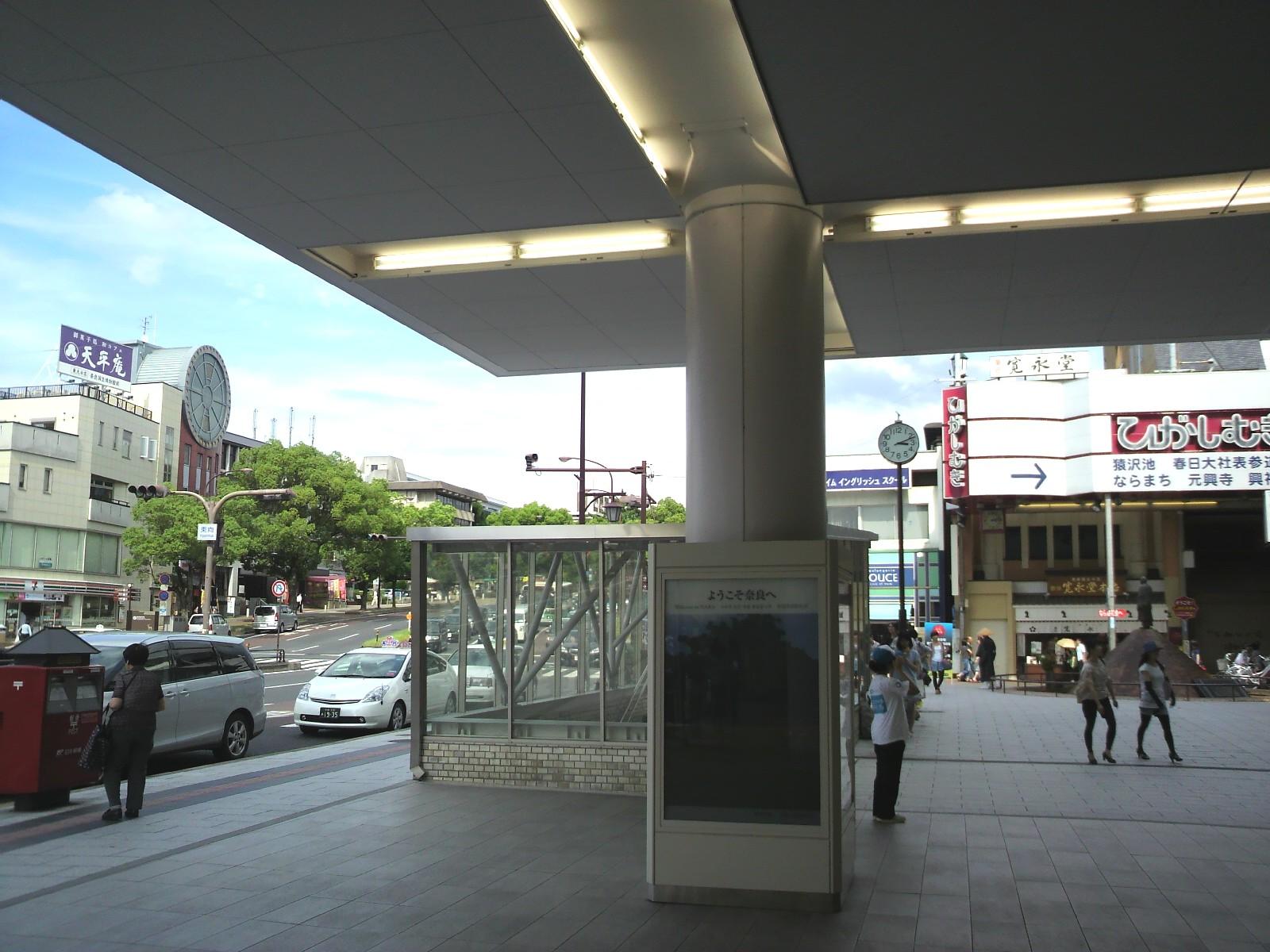 近鉄奈良駅ビル内側からみた景観
