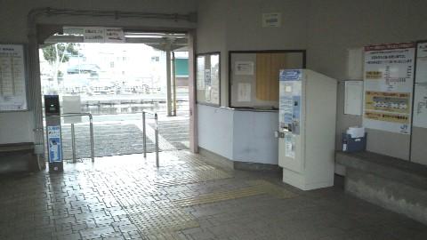 JR京終駅の無人改札口