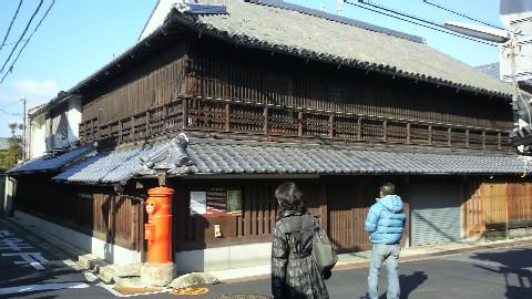 八木札の辻、西側の旧旅館