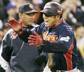 福留代打本塁打