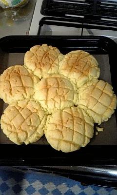 くっついたメロンパン