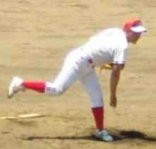 駒形・加藤武投手