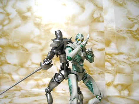 甲冑騎士とメロン
