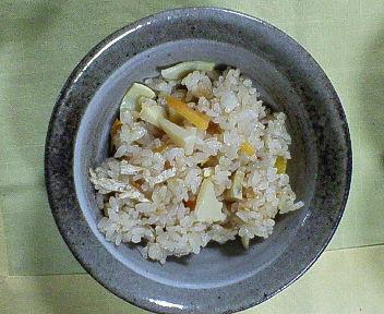 タケノコご飯3