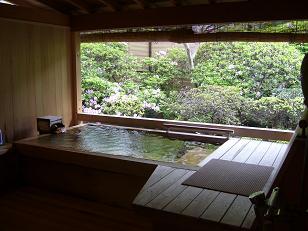 「かつら」部屋付露天風呂1