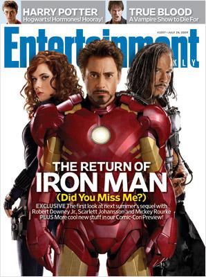 Iron Man 2 on EW cover