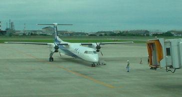 出発を待つANA1633便 改め 1634便