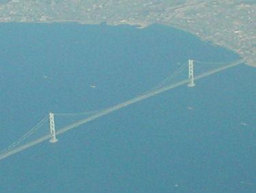 明石海峡大橋が鮮明に見えました。