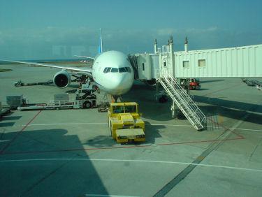 出発を待つANA128便の同一機材(と思われる)