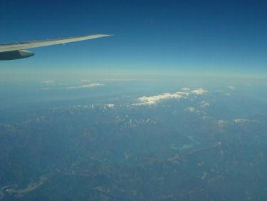 南アルプスから立山連峰まで見渡せました