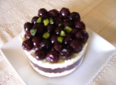 ブルーベリーのレアチーズケーキ 1