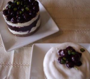 ブルーベリーのレアチーズケーキ 2
