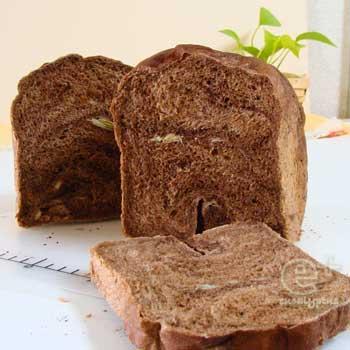 ココアパウダーでまっくろ食パン(ホームベーカリー / 1CW / パネトーネマザー)