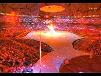 バンクーバーオリンピック開会式 NHKテレビでの放送画面より1