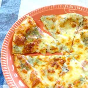冷凍ピザ(ブルーチーズのPIZZA)をヘルシオで焼く