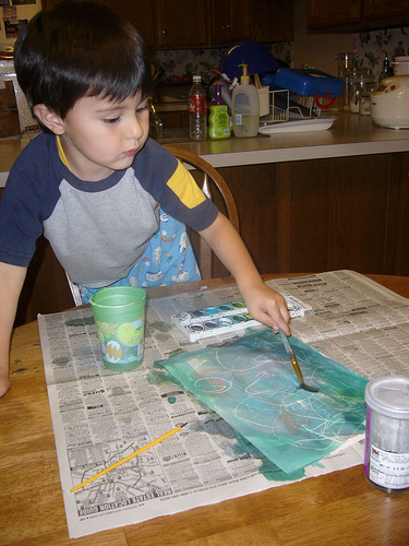 Sage, painting a picture