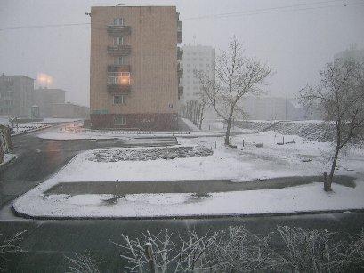 雪のウランバートル