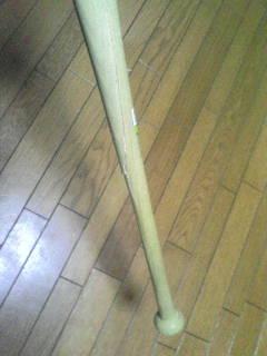 折れちゃった城島健司モデルの木バット1