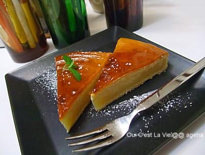 失敗チーズケーキ私撮影。