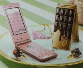 ドコモ×Q-pot. コラボ 板チョコ携帯(SH-04B)