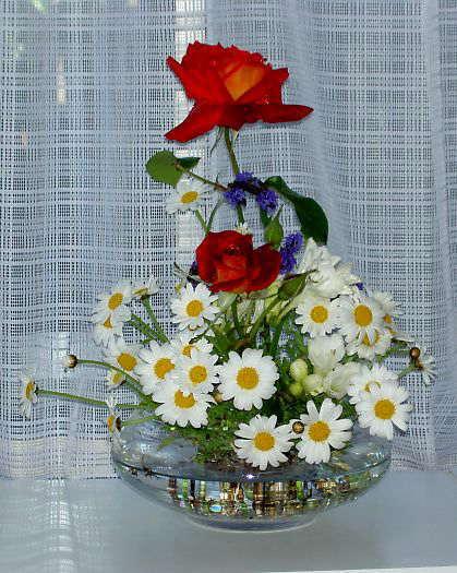 庭の花・ガラス器