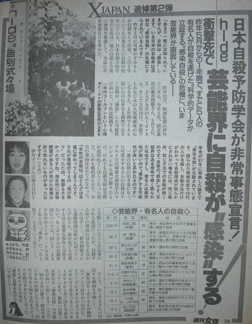 hide自殺記事