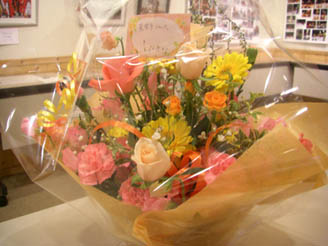 N子さんより お花