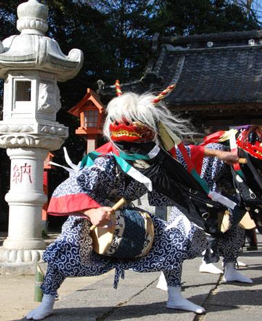 古宮神社獅子舞・1