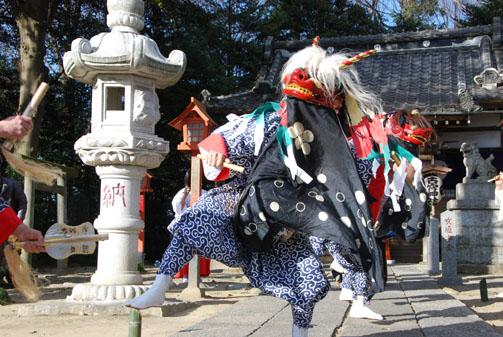 古宮神社獅子舞・4