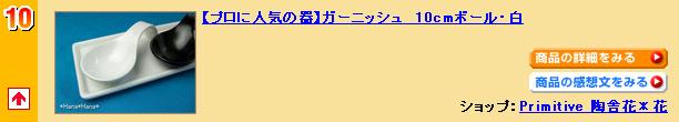 ガーニッシュ 10cmボール・白