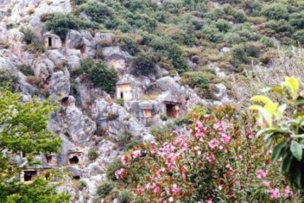 ミラの墳墓と夾竹桃