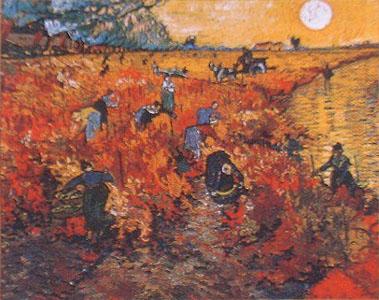 アルルの赤い葡萄畑