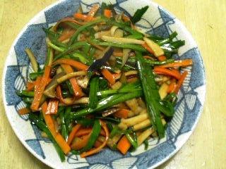 四色野菜の辛味味噌炒め