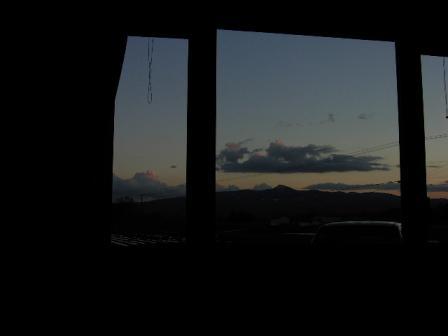 部屋から昆布岳
