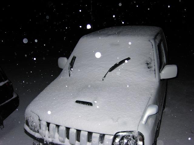 雪降ってきたよーー