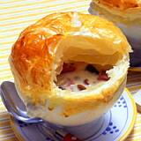 マッシュルームのカップパイスープ