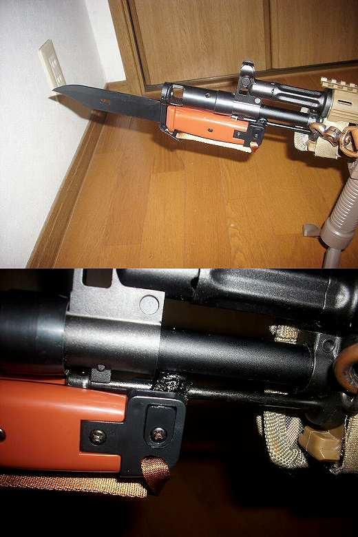 AK102バヨネットラグ自作