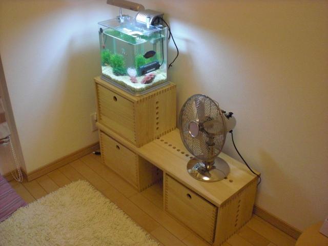 【水槽台】 色合い、材質が想像通りでした。我が家では、リビングの角に水槽をのせて設置しています。組み合わせを変えて別な使い方も出来るので、長く使えそうです。商品自体ものすごく軽いので移動も楽ですし、テレビなどの重い物を置けます。【子供部屋 無垢 木製 収納 ラック キューブ カラーボックス 本棚 絵本 おもちゃ 収納 図鑑 大型本】