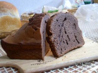バターなしココアパウンドケーキ