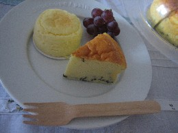 ココナッツとごまのチーズケーキ