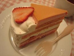パステル ストロベリープリンケーキ