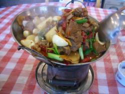 湖南料理 干鍋のニンニク