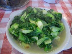 湖南料理 青梗菜の炒め物