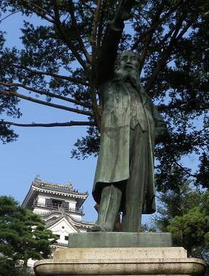 板垣退助銅像 高知城