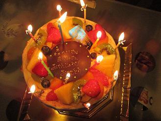 誕生会のケーキ