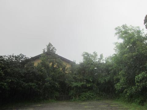 外観 雨降り