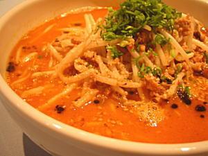 ぴり辛の坦々麺